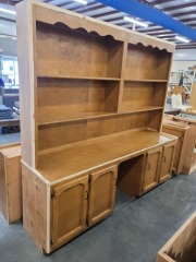 Maple Kitchen Bottom Cabinet with Top Bakers Rack