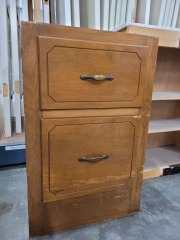 Pine Two Drawer Bottom Cabinet Piece