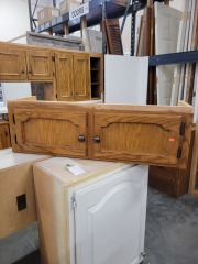 Over Fridge Light Oak Cabinet Piece