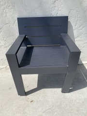 GENTLY USED Aluminum Side Chair