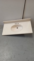 GENTLY USED Bathroom Vanity Sink Top 37\