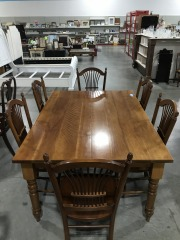 Dining Set w\/ Six Chairs
