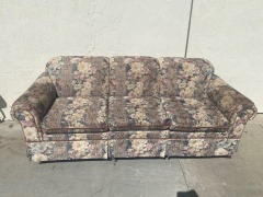 GENTLY USED Floral Couch