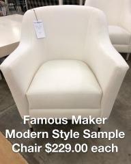 Famous Maker Modern Style Sample Chair - BETTER\/NEW FURNITURE