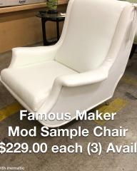 Famous Maker Modern Sample Chair - BETTER\/NEW FURNITURE