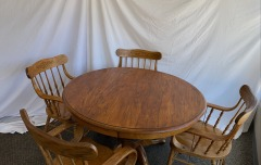 GENTLY USED Circular Dining Table Set