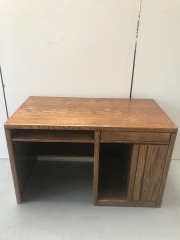 GENTLY USED Wood Desk