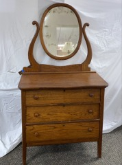 GENTLY USED Dresser With Mirror