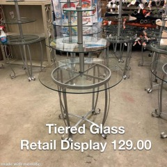 Tiered Glass Retail Display - GENTLY USED FURNITURE