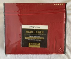 NEW 1800 Thread Count Egyptian Cotton Red Sheet Set - Queen