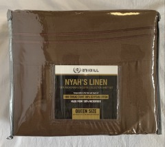 NEW 1800 Thread Count Egyptian Cotton Brown Sheet Set - Queen