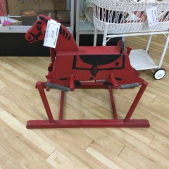 Antique Red Hobby Horse - COLLECTIBLES