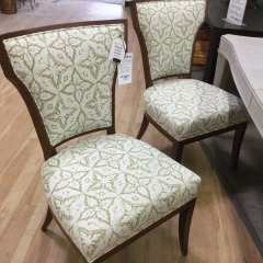 Design Master Set of 4 Wood Framed Side Chairs - BETTER\/NEW FURNITURE