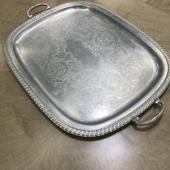 Vintage Aluminum Rectangular Serving Tray - HOUSEWARES