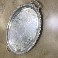 Vintage Aluminum Oval Serving Tray - HOUSEWARES