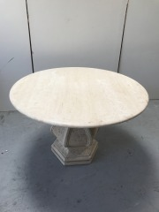 GENTLY USED Outdoor Stone Top Table
