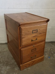 GENTLY USED Wood File Cabinet