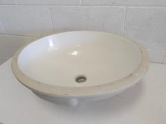 GENTLY USED Under Mount Bathroom Sink