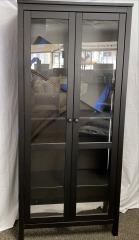 GENTLY USED Bookshelf with Glass Doors
