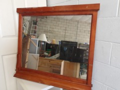 GENTLY USED Wood Framed Mirror