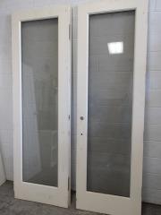 GENTLY USED Exterior Double Door 60\