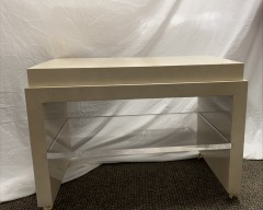 GENTLY USED White Lacquer Side Table