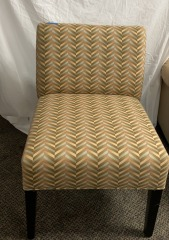 GENTLY USED Armless Accent Chair