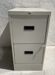 GENTLY USED 2 Drawer Filing Cabinet With Key