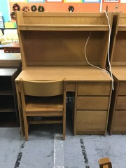 Dorm desk with chair