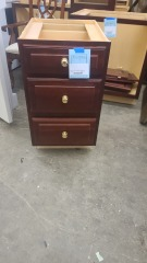 HANDCRAFTED 3 DRAWER BASE CABINET