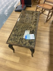 VINTAGE STYLE COFFEE TABLES W\/ GLASS