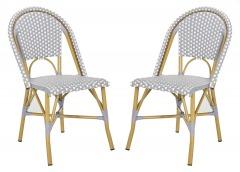 NEW Salcha Indoor - Outdoor French Bistro Side Chair (Set of 2)
