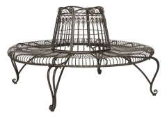 NEW Ally Darling Wrought Iron Tree Bench