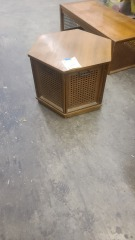 OCTAGONAL SIDE TABLE W\/ CANE
