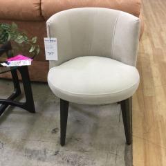 Beige Plush Barrel Back Side Chair - BETTER\/NEW FURNITURE