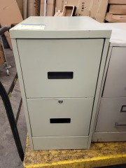 TWO DRAW FILE CABINET LT.GREEN
