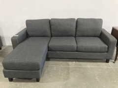 Abbyson Stanford Fabric Reversible Sectional Sofa