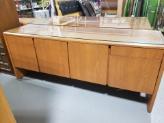 Office Credenza w\/ glass top