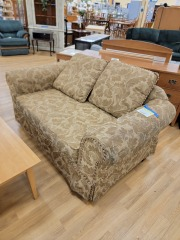 love seat leafy brown