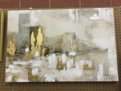 Beige and Gold Abstract Art - ARTWORK\/PRINTS FURNITURE