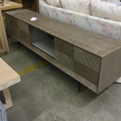 Long Low Console with Pierced Back (AS IS) - BETTER\/NEW FURNITURE
