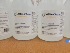 ATTIS CLEAN HAND SANITIZER AND CLEANING SOLUTION GAL (RETAIL $36)