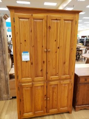 PINE CLOTHES CABINET