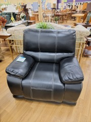BLACK ELECTRIC RECLINER ARM CHAIR
