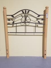 Twin Wood\/Metal Headboard