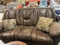 Brown double recliner