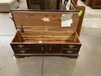 Lane blue top wood chest