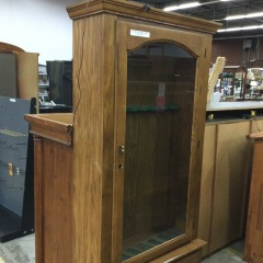 Oak Gun Cabinet (No lock) - GENTLY USED FURNITURE
