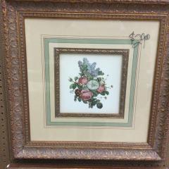 Floral Print in ornate frame - ARTWORK\/PRINTS FURNITURE
