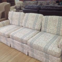 Cherry Blossom Sofa w\/ Cream Background - GENTLY USED FURNITURE